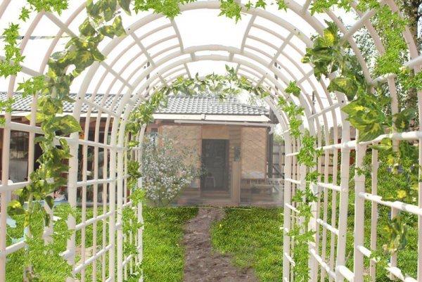 Создание опоры, сетки, шпалеры, арки для дикого винограда своими руками